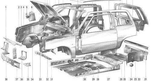 Ремонт кузова автомобиля ока