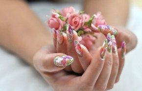 фотография Аквариумный дизайн ногтей